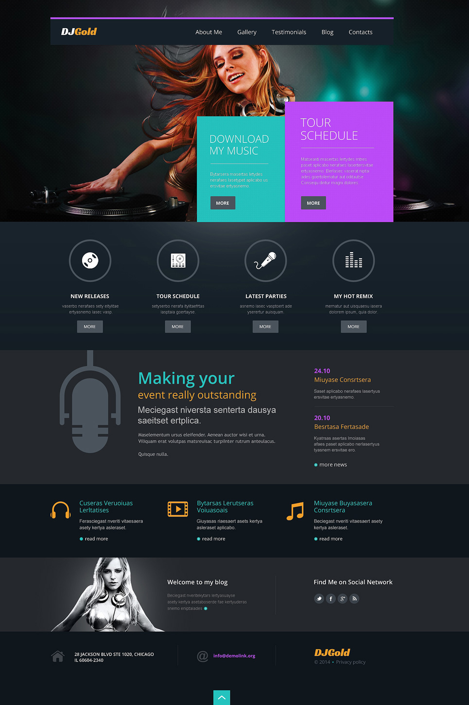 Singer Responsive WordPress Theme (WordPress theme for radio stations) Item Picture