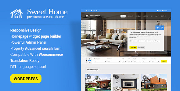 Sweethome (real-estate WordPress theme) Item Picture