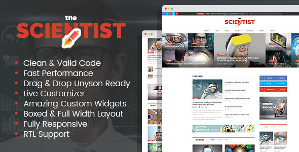 The Scientist (viral WordPress theme with frontend submission) Item Picture