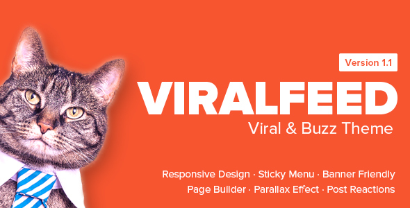 ViralFeed (viral WordPress theme with frontend submission) Item Picture