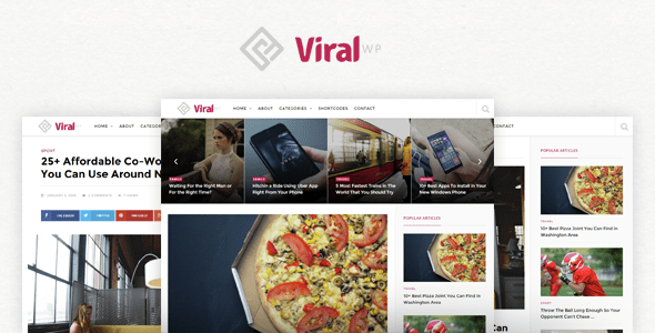 ViralWP (viral WordPress theme with frontend submission) Item Picture