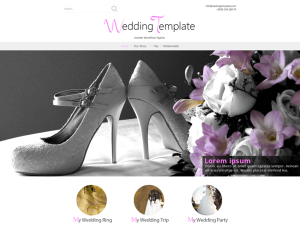 Wedding Style (WordPress theme) Item Picture