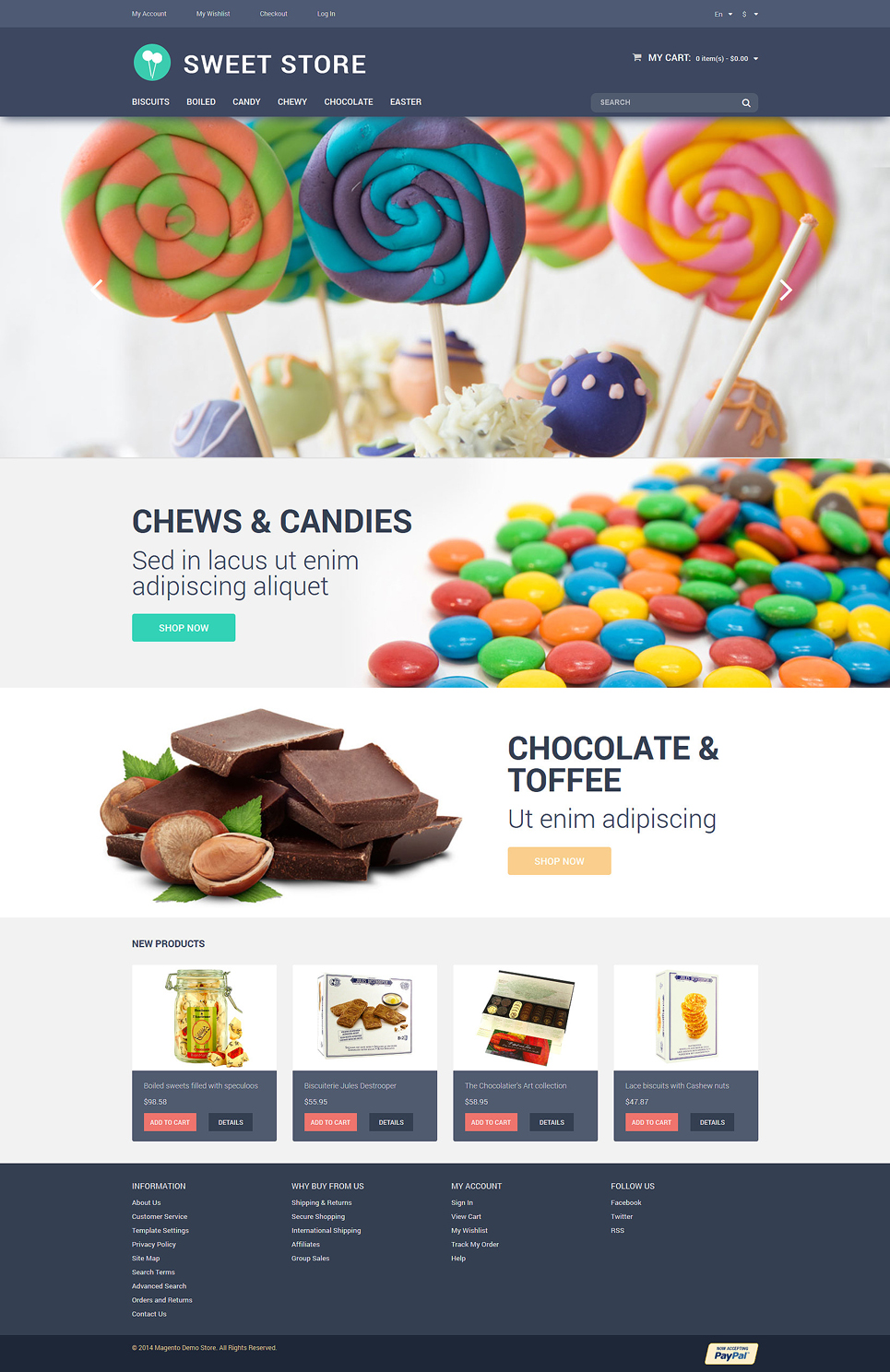 Candy Web Store Magento Theme (website template for ecommerce) Item Picture