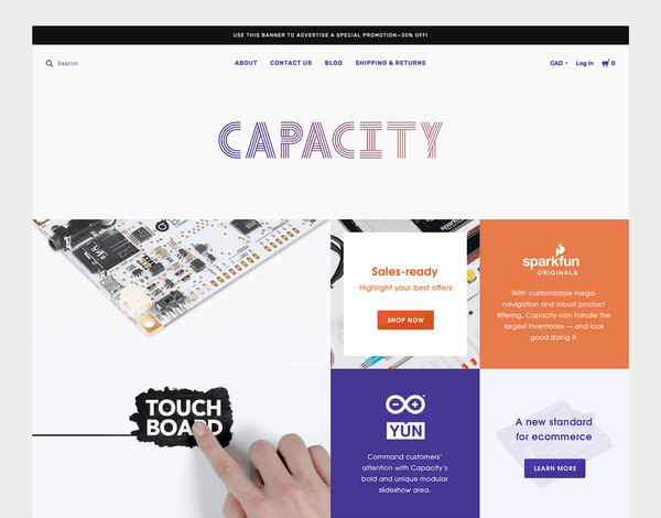 Capacity Cool (ecommerce theme) Item Picture