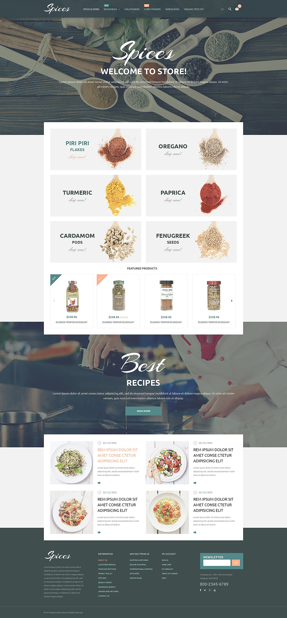 Culinary Spices Magento Theme (website template for ecommerce) Item Picture
