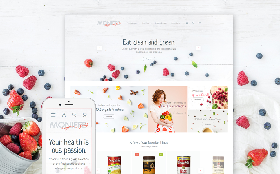 Monifee Magento Theme (website template for ecommerce) Item Picture