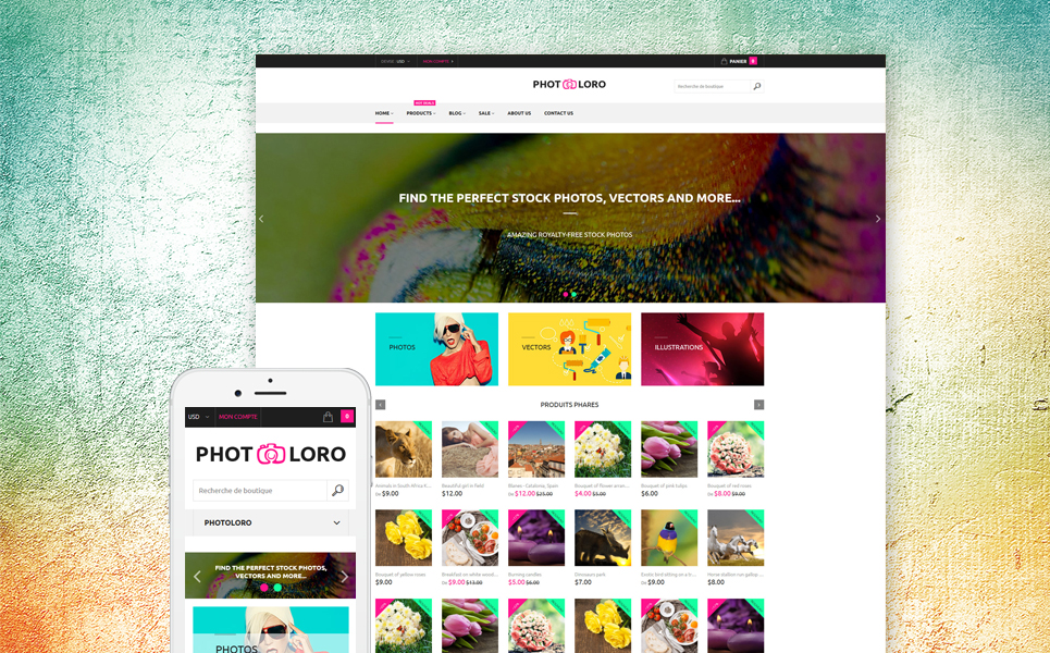 PhotoLoro (website template for ecommerce) Item Picture