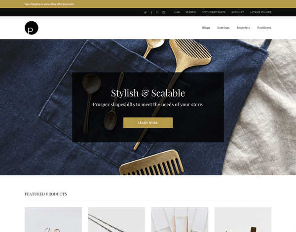 Prosper (ecommerce theme) Item Picture