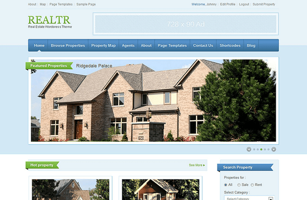 Realtr (WordPress theme for realtors and real estate agents) Item Picture
