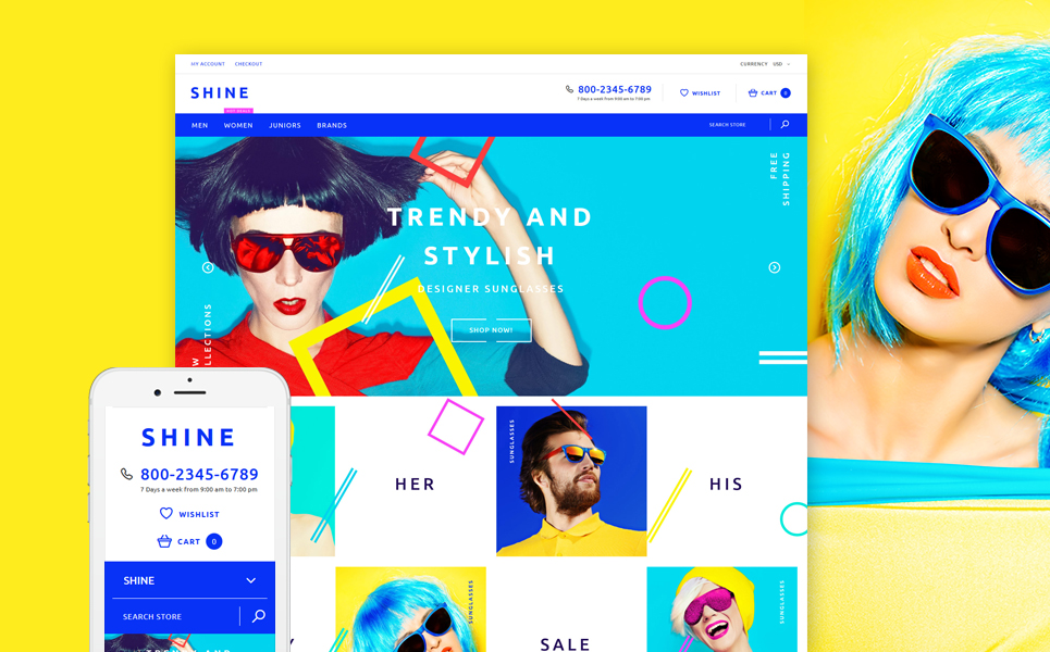Shine (website template for ecommerce) Item Picture