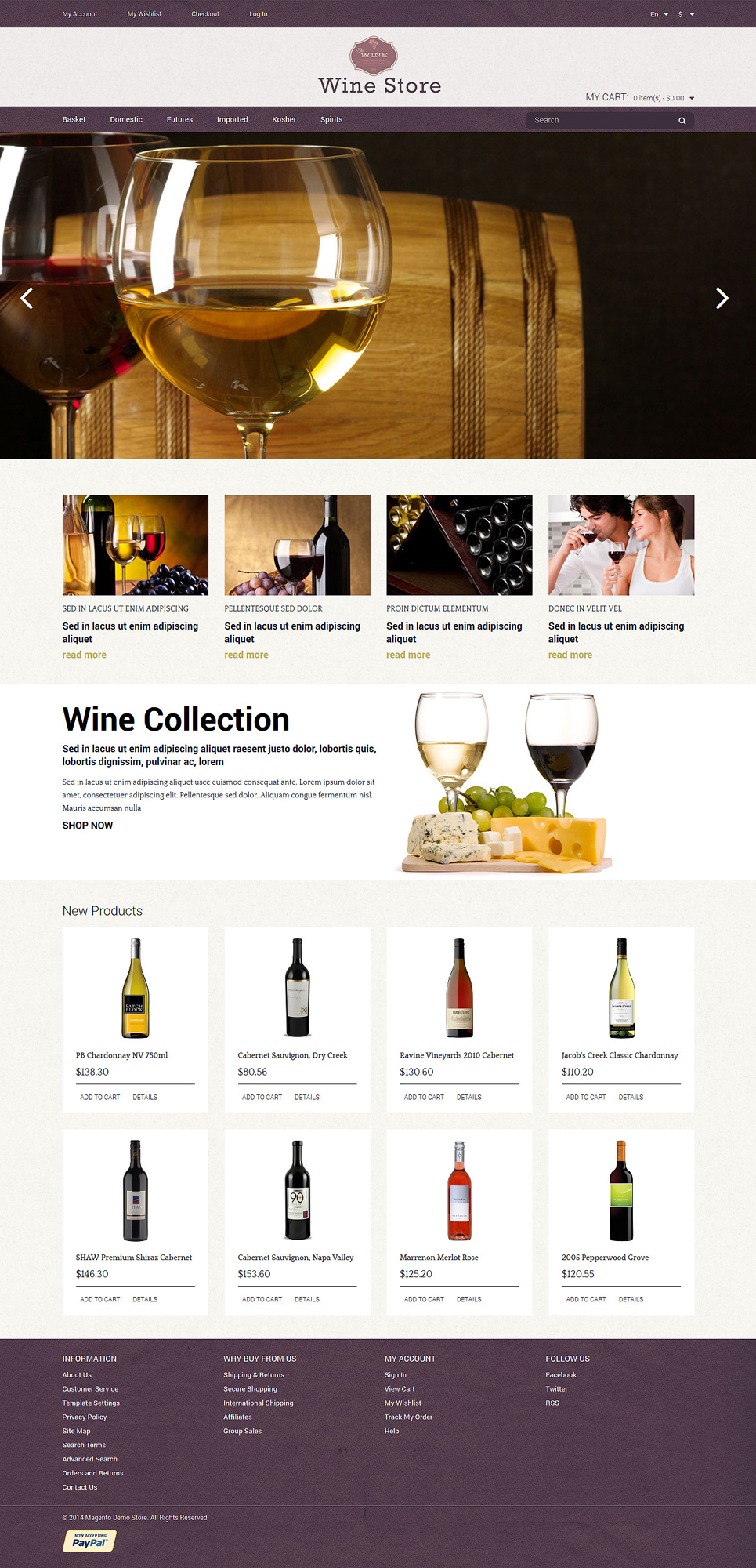 Wine Store Magento Theme (website template for ecommerce) Item Picture