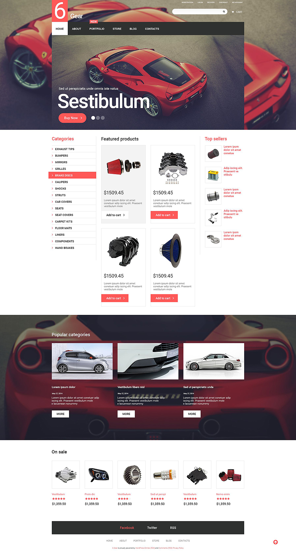 6 Gear (template for WooCommerce) Item Picture