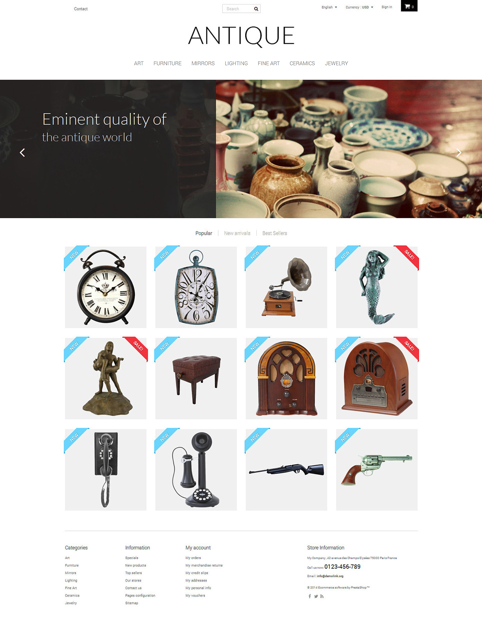 Antique (template for PrestaShop) Item Picture
