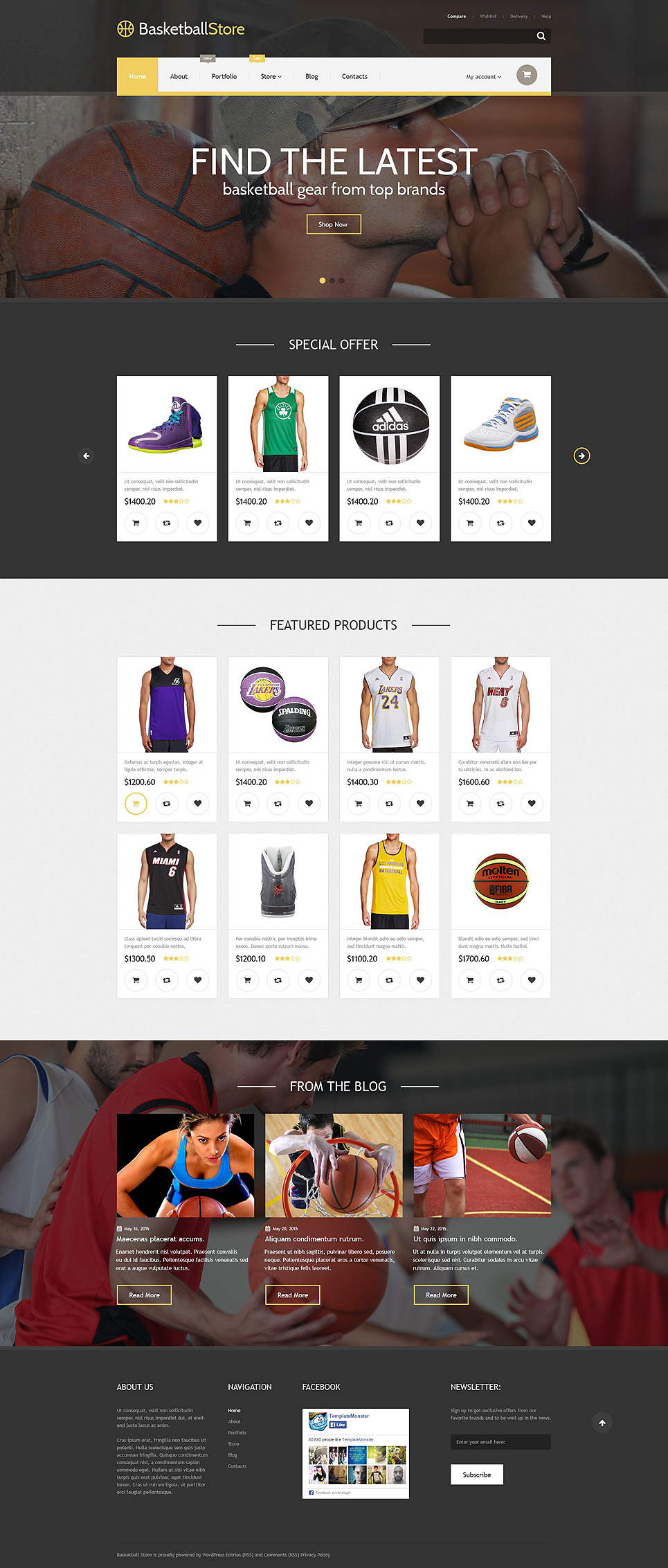 Basketball Store (template for WooCommerce) Item Picture