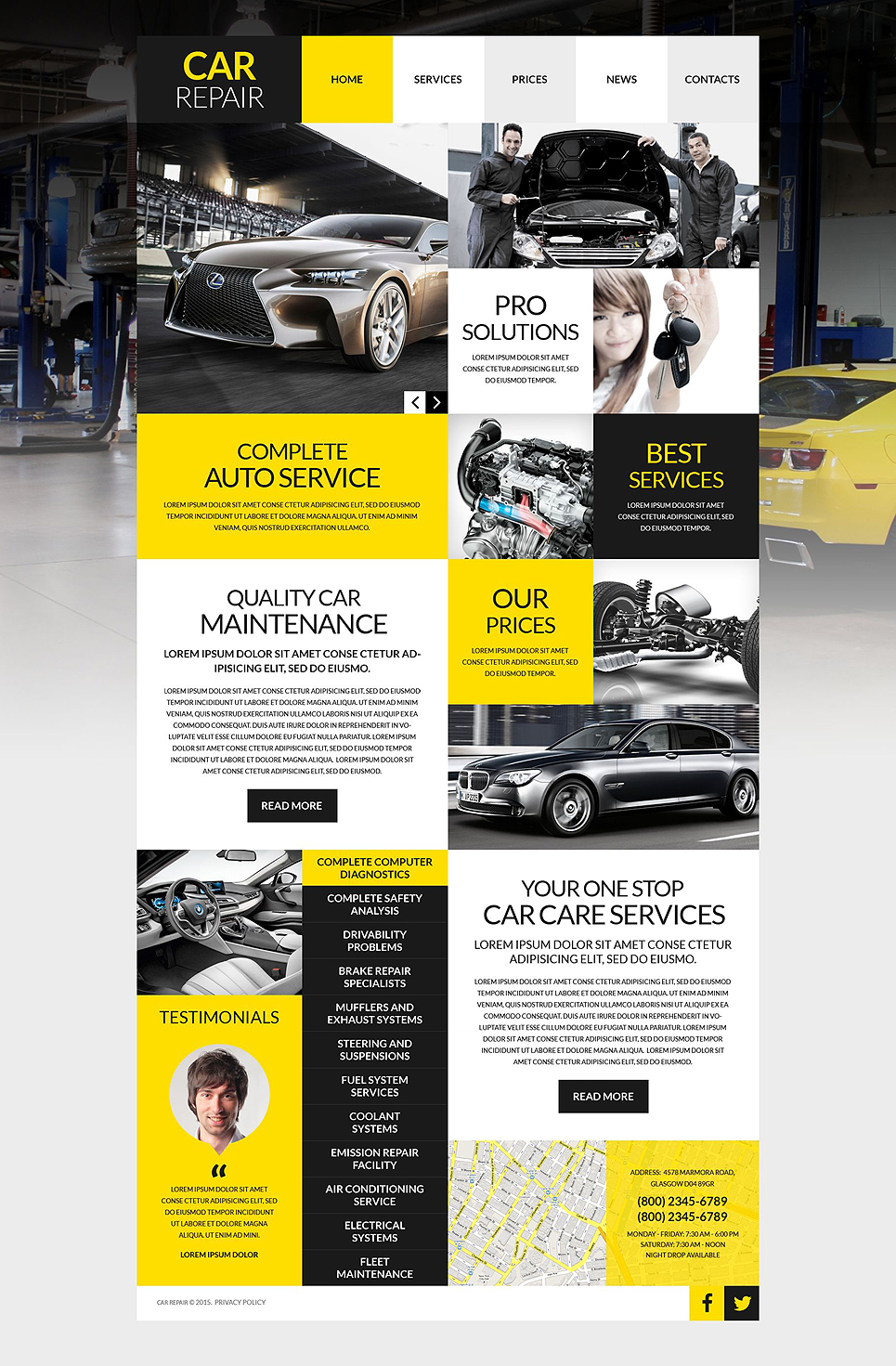 Car Workshop WordPress Theme (WordPress theme for auto repair shops) Item Picture
