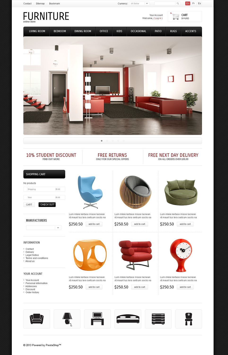 Classic & Modern Furniture (theme for PrestaShop) Item Picture