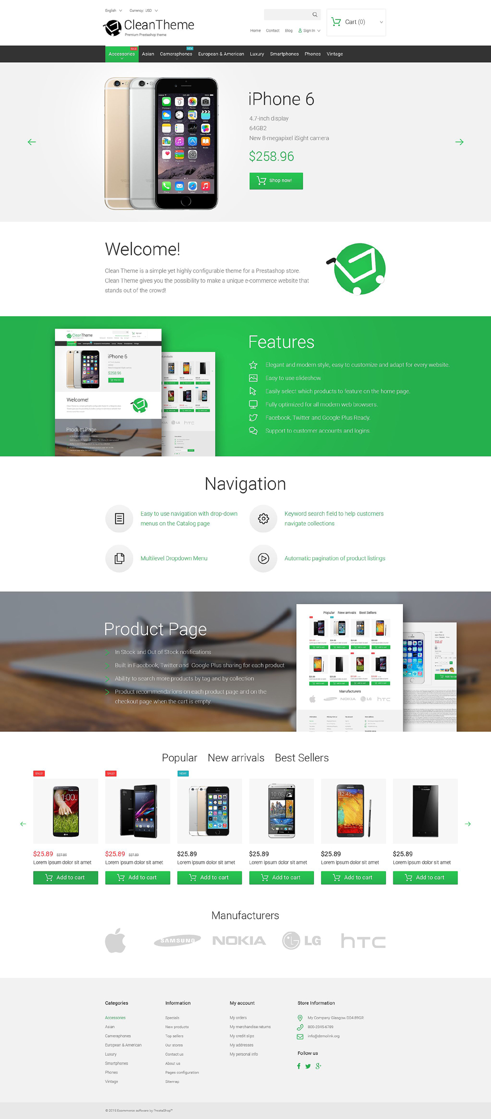 Clean Theme (ecommerce theme for PrestaShop) Item Picture