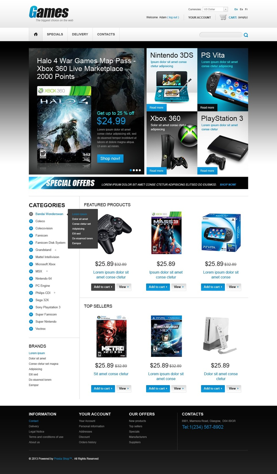 10 best video game store ecommerce website templates prestashop games store themes buildify. Black Bedroom Furniture Sets. Home Design Ideas
