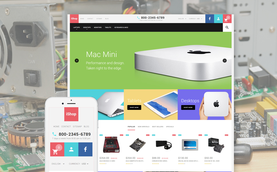 Computer Store Responsive (template for PrestaShop) Item Picture