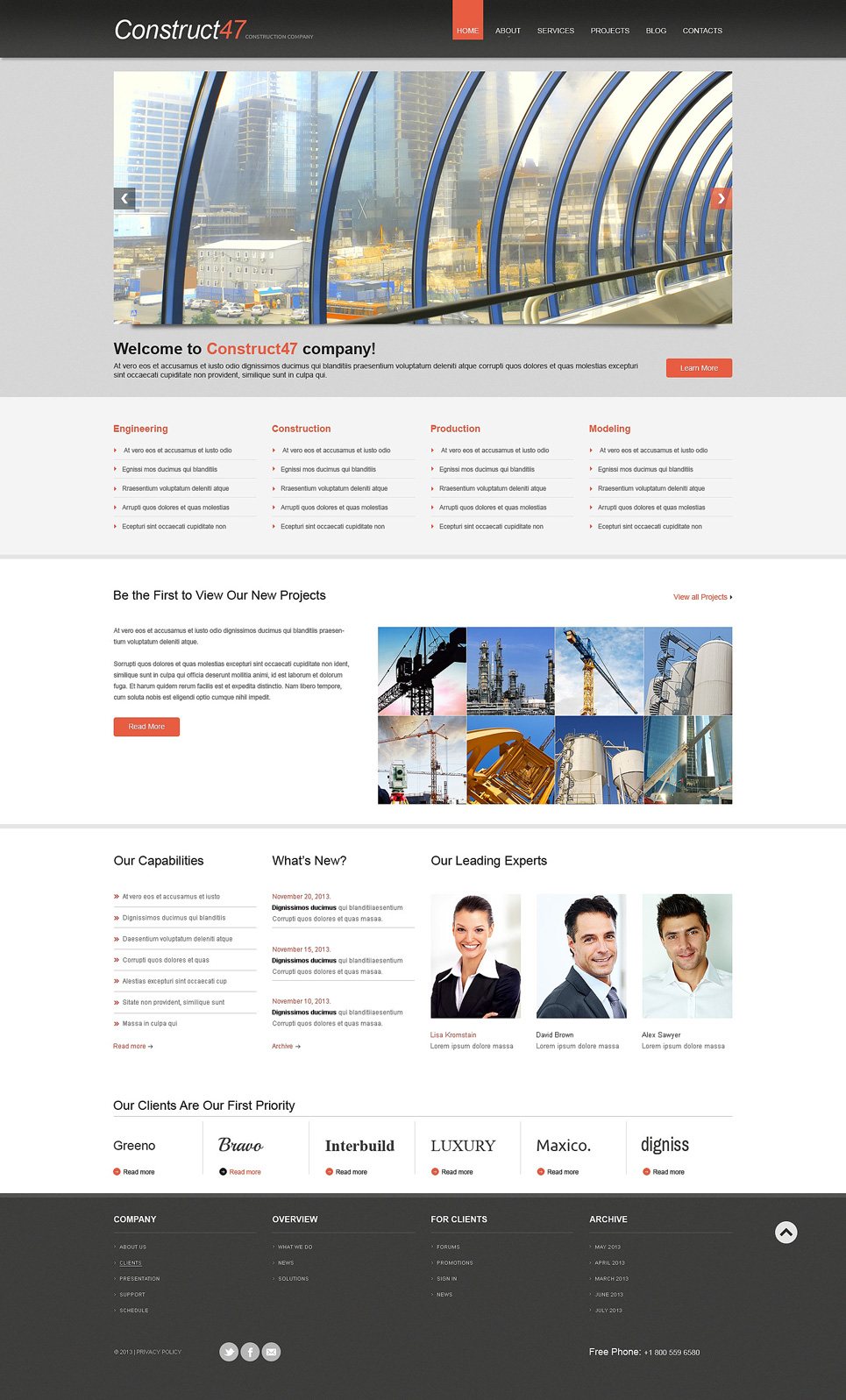 Construction WordPress Theme (WordPress theme for the construction industry) Item Picture