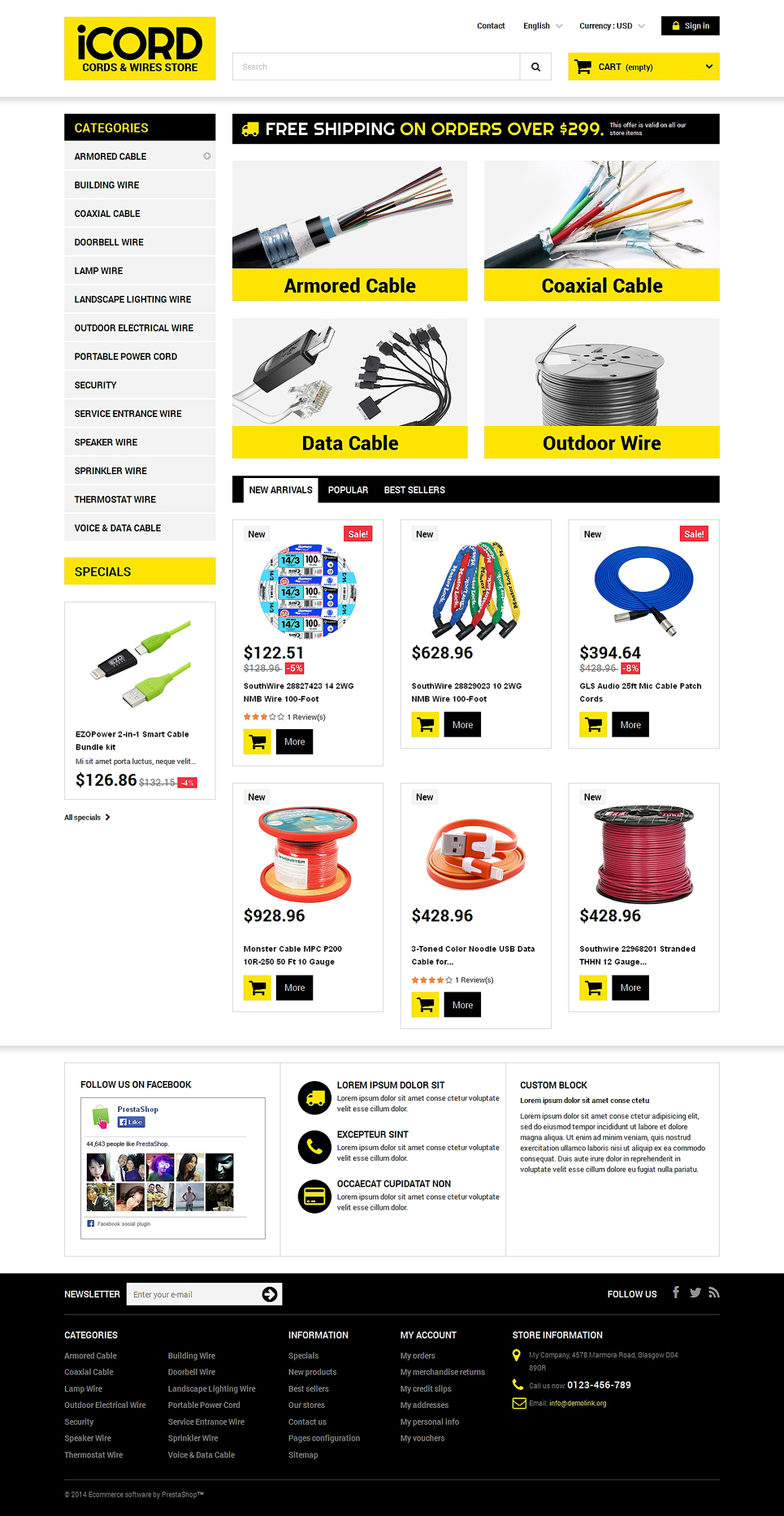 Cords Wires Store (theme for PrestaShop) Item Picture