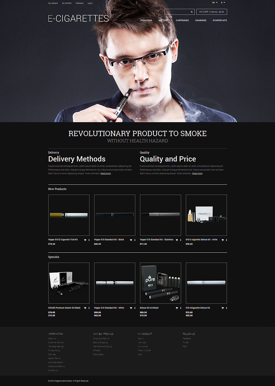 ECigarettes Store (online store template) Item Picture