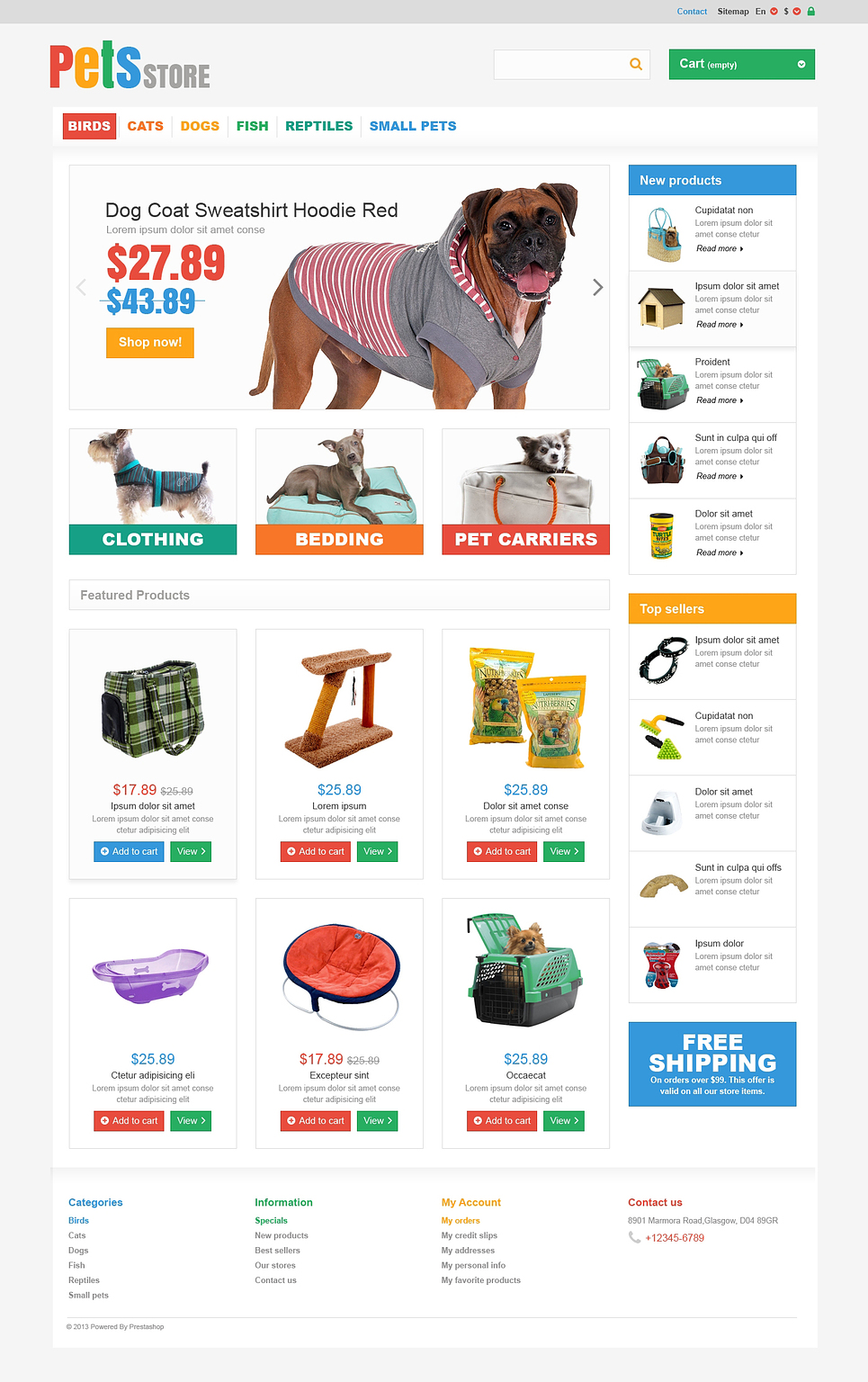 Everything Your Pet Needs (PrestaShop template) Item Picture