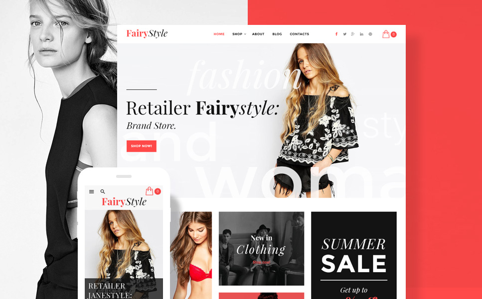 Fairy Style (WordPress theme for clothing or fashion stores) Item Picture
