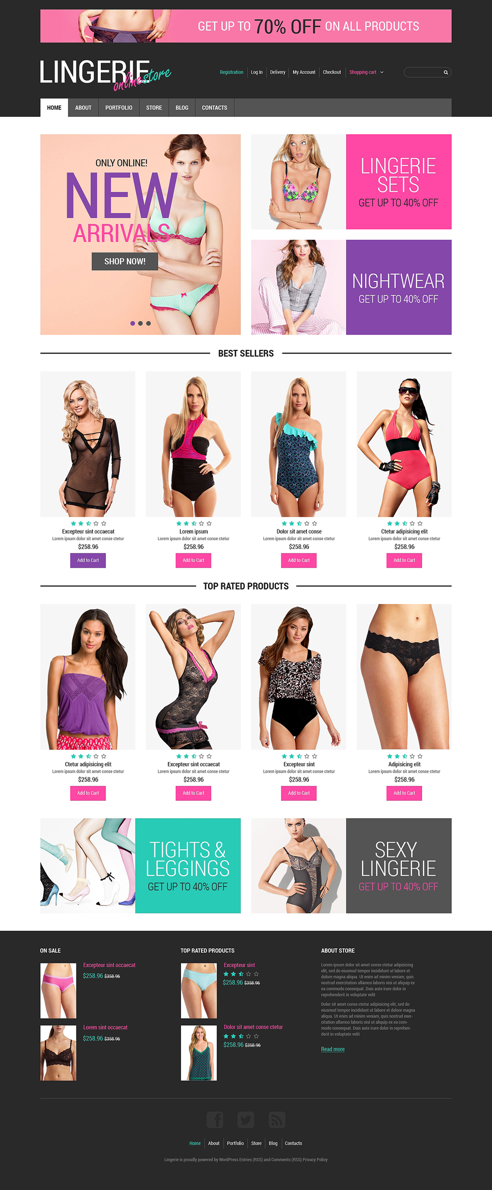 Feminine Lingerie WooCommerce Theme (WordPress theme for clothing or fashion stores) Item Picture