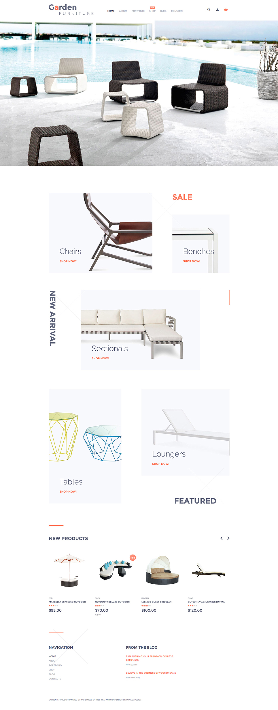Garden Furniture WooCommerce Theme (WordPress theme for furniture stores) Item Picture