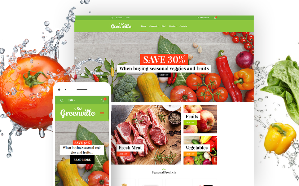 Greenville (template for WooCommerce) Item Picture