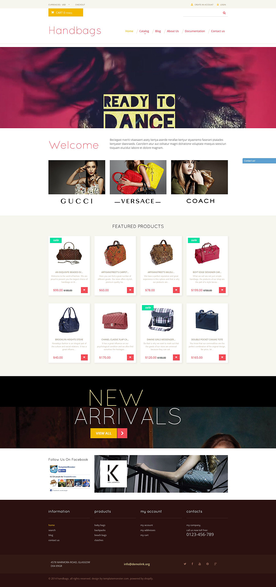 Handbag Responsive Shopify Theme (jewelry and accessories Shopify theme) Item Picture