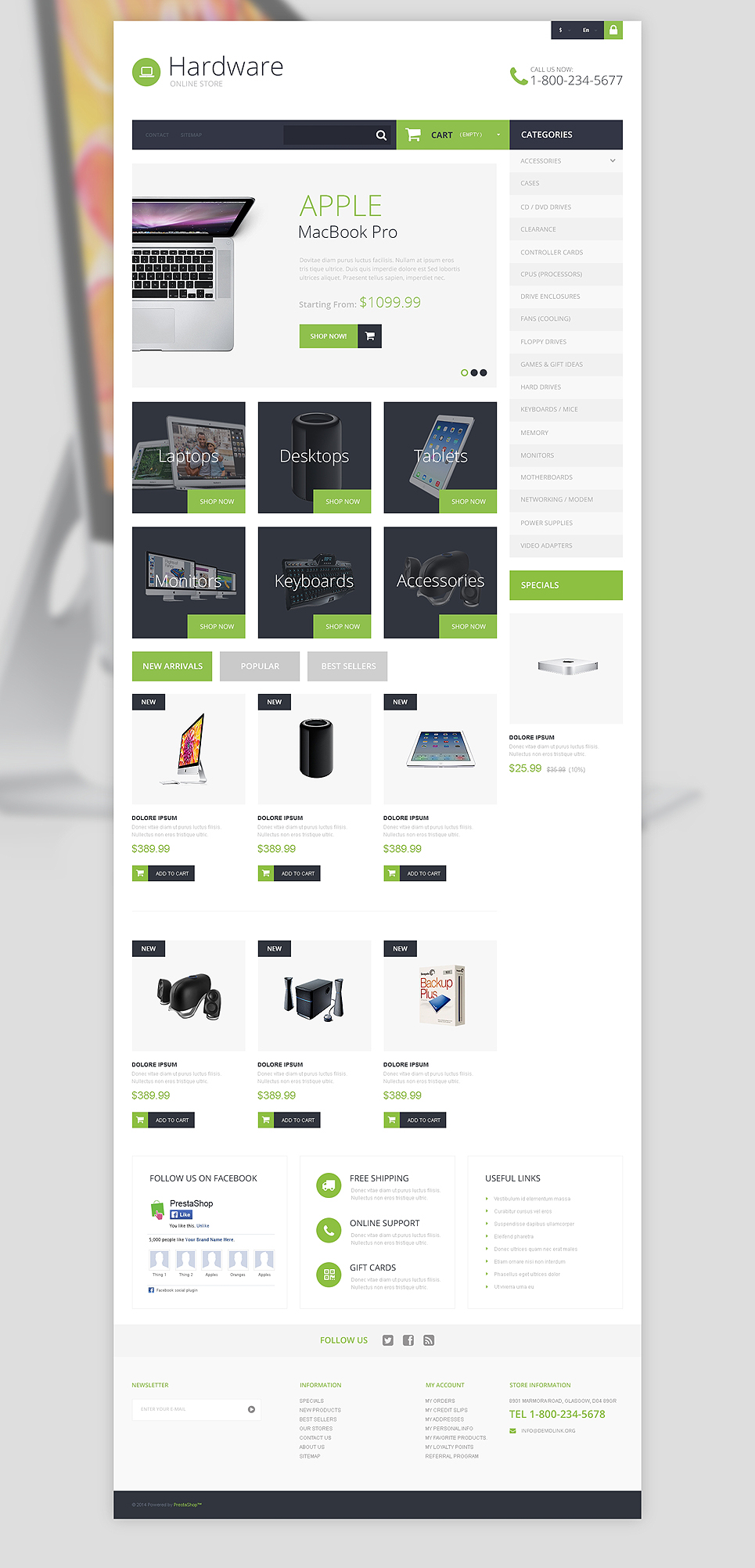 Hardware Provider Company (template for PrestaShop) Item Picture