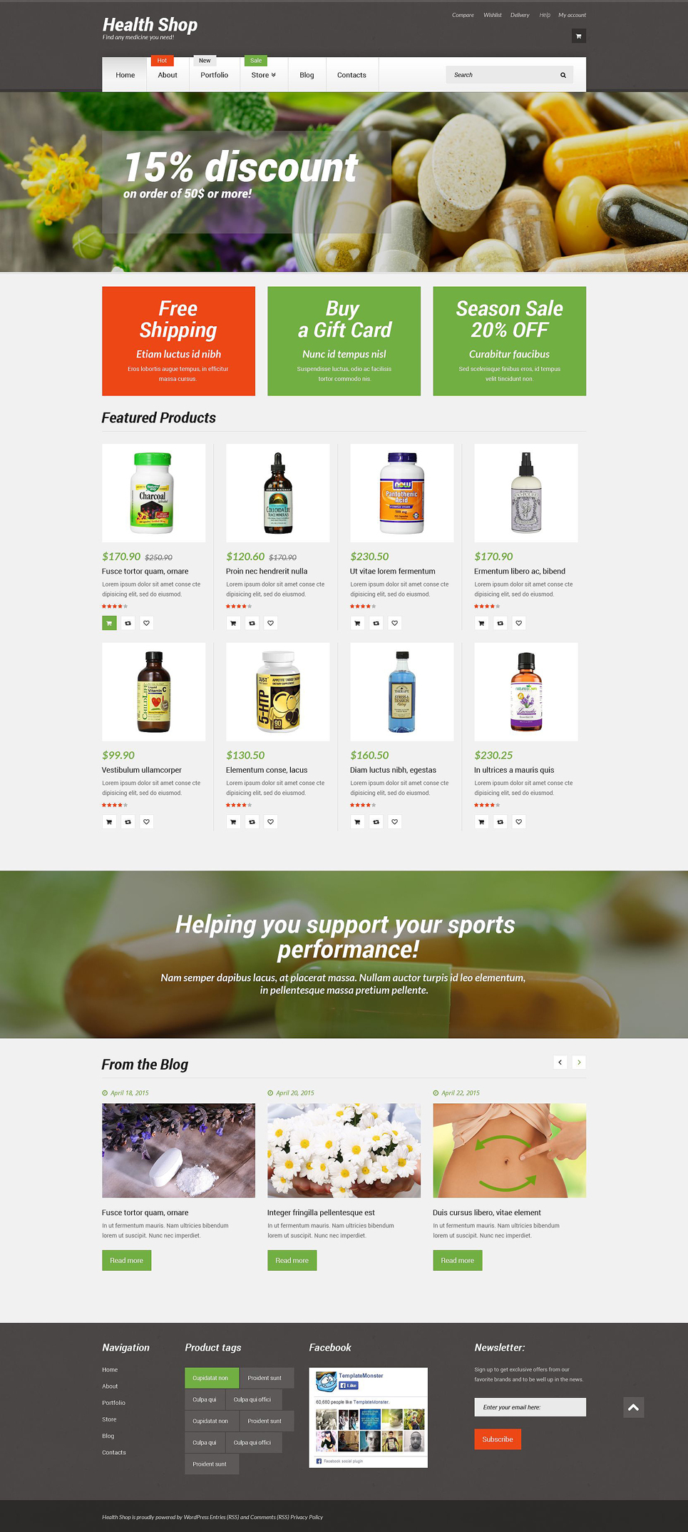Health Shop (template for WooCommerce) Item Picture