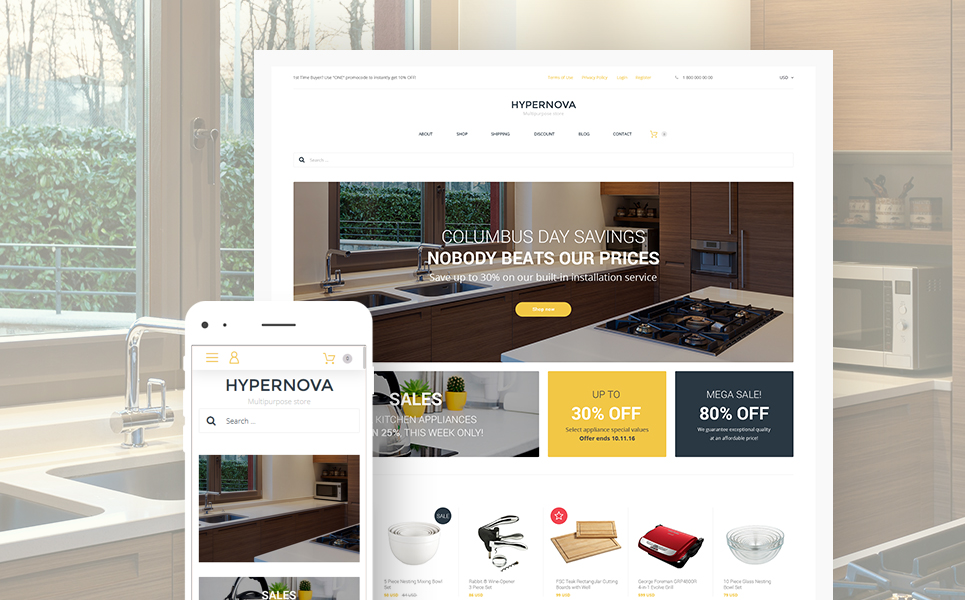 Hypernova (template for WooCommerce) Item Picture