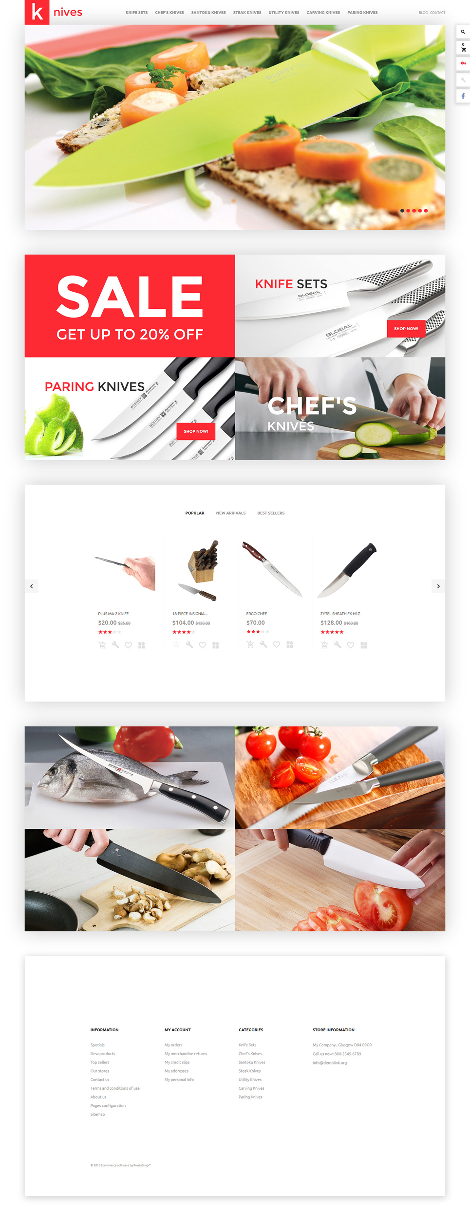 Knives (template for PrestaShop) Item Picture