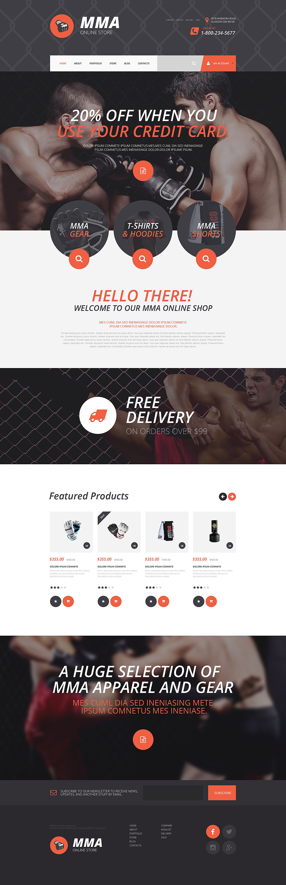 MMA Online Store (template for WooCommerce) Item Picture