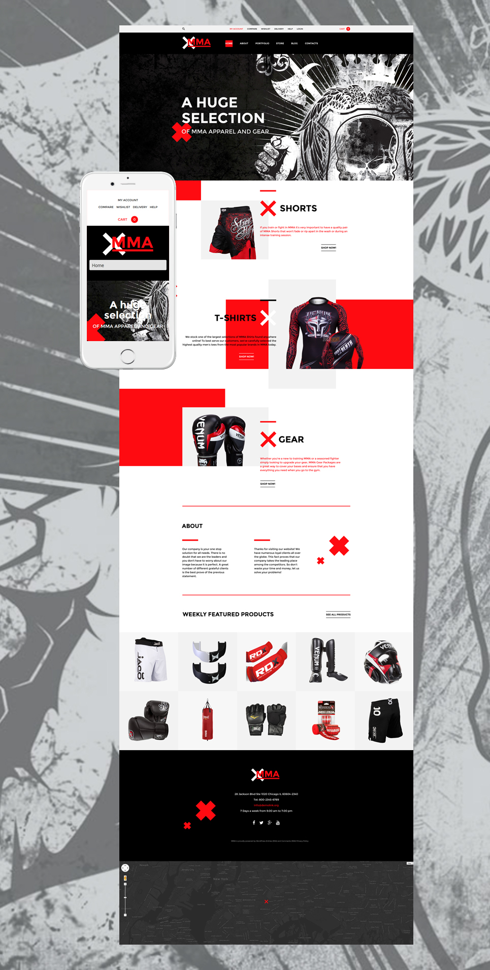 MMA (template for WooCommerce) Item Picture