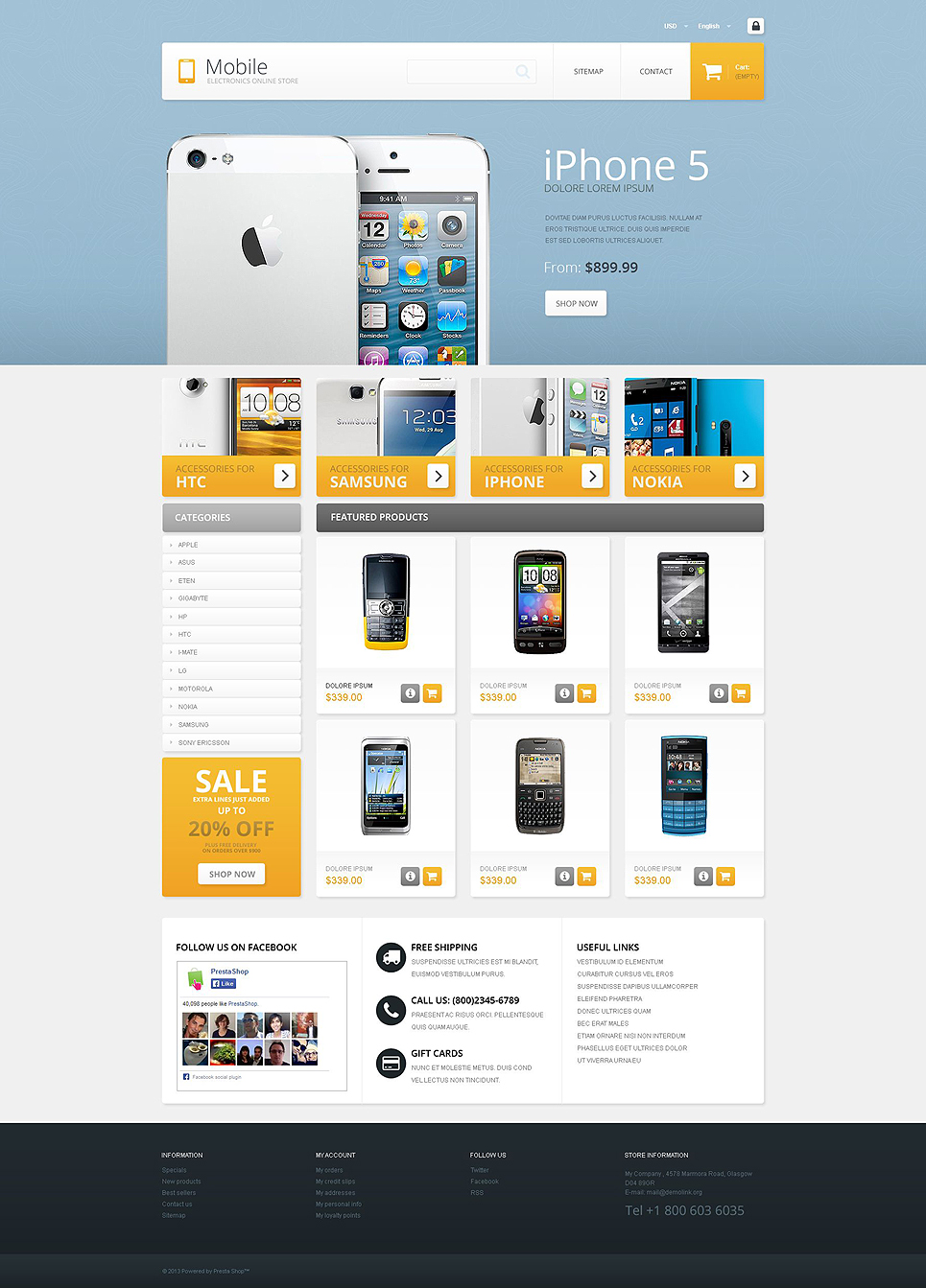 Mobile (ecommerce theme for PrestaShop) Item Picture