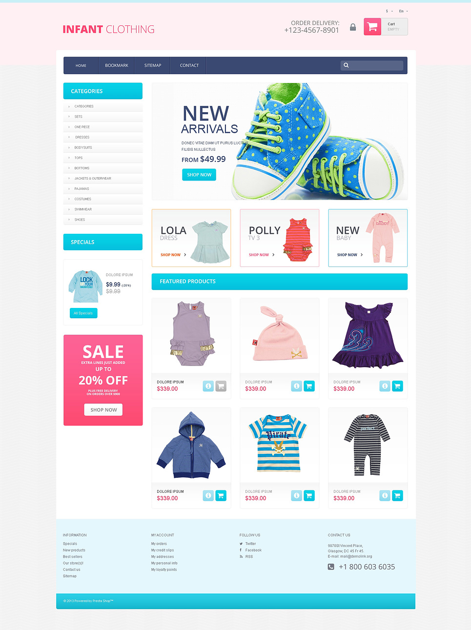 Newborn Clothing Store (ecommerce PrestaShop template) Item Picture