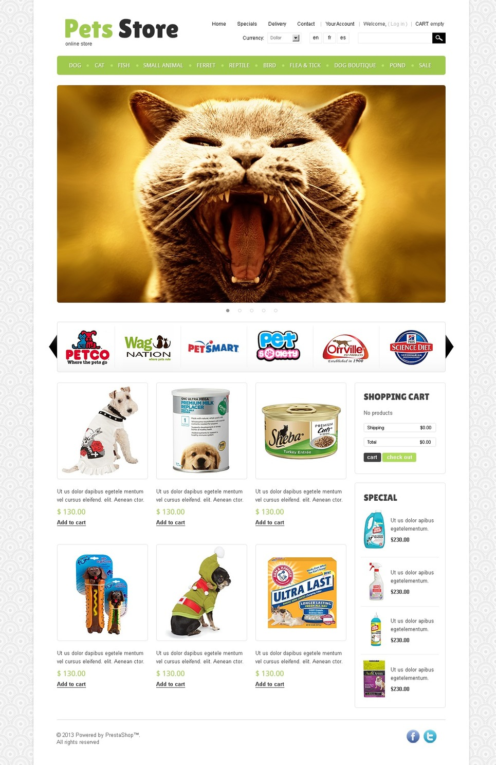 Pet Store (PrestaShop template) Item Picture