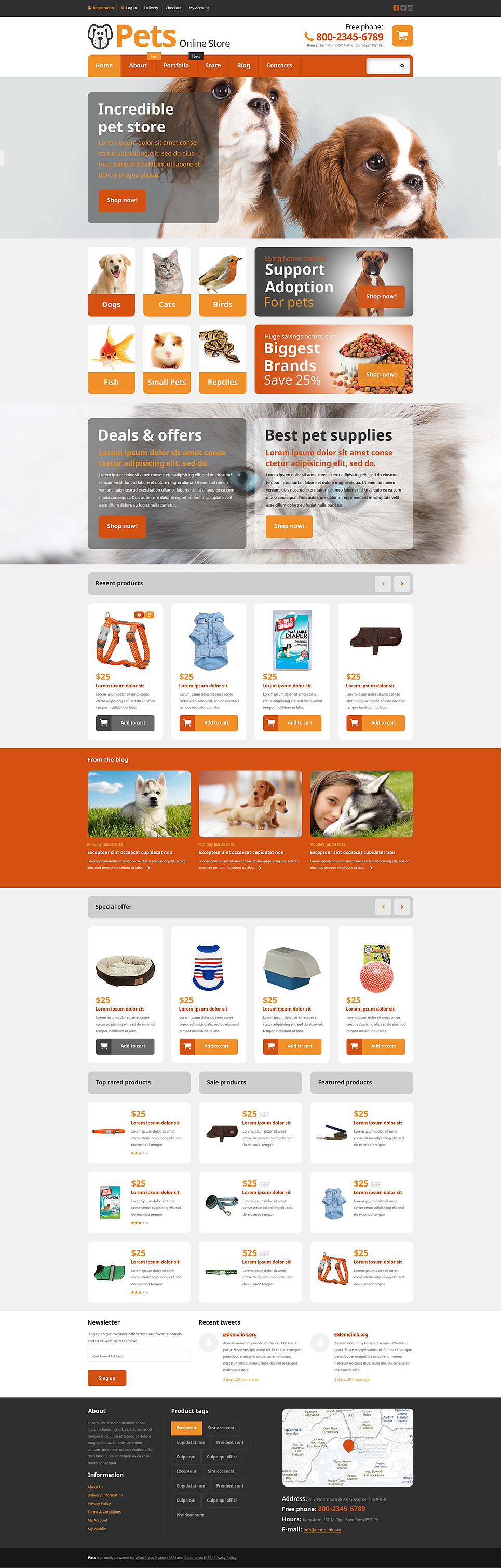 Pets Online Store (template for WooCommerce) Item Picture