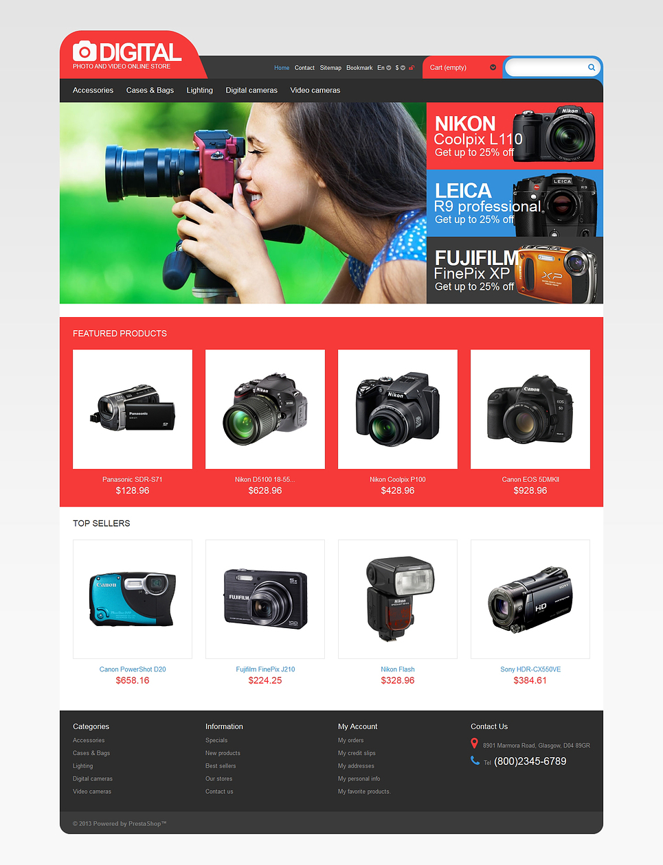 Photo & Video Store (theme for PrestaShop) Item Picture