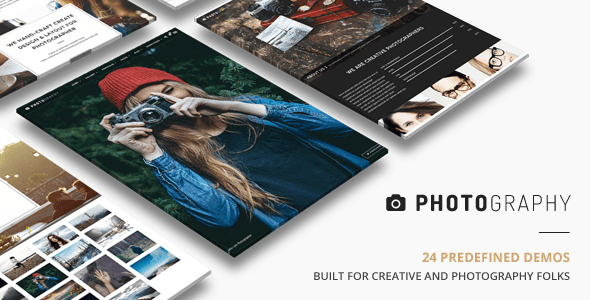 Photography  (dark WordPress theme for photography and photographers) Item Picture