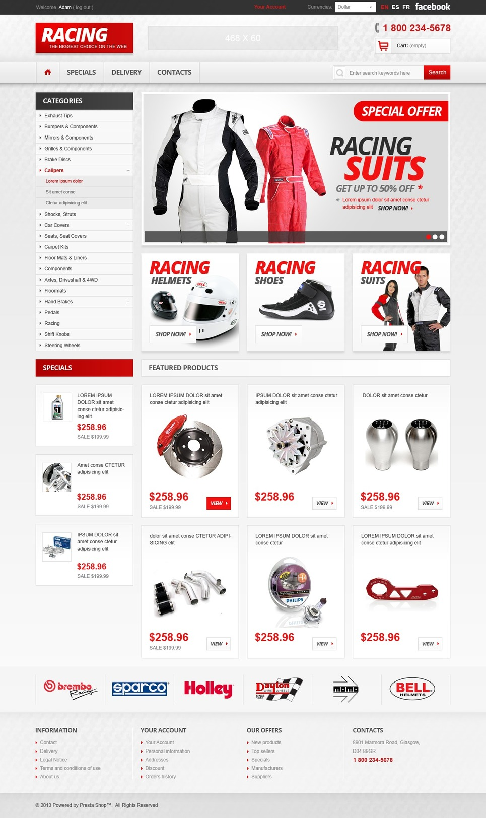 Racing Store (PrestaShop theme) Item Picture