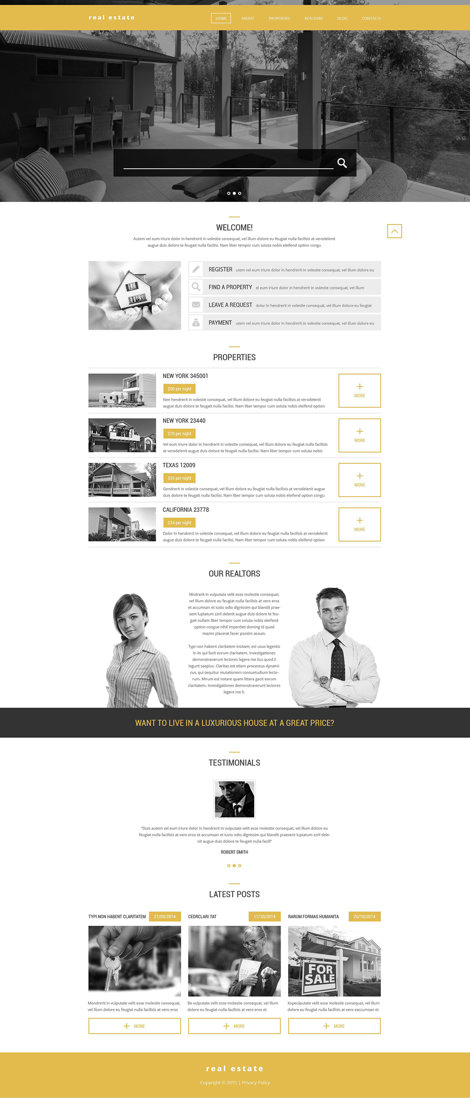 Realtors' Help WordPress Theme (WordPress theme for realtors and real estate agents) Item Picture