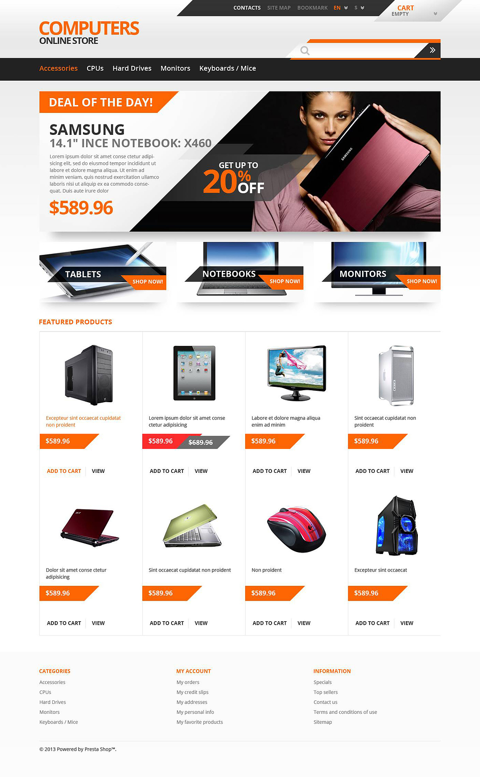 Responsive Computers Store