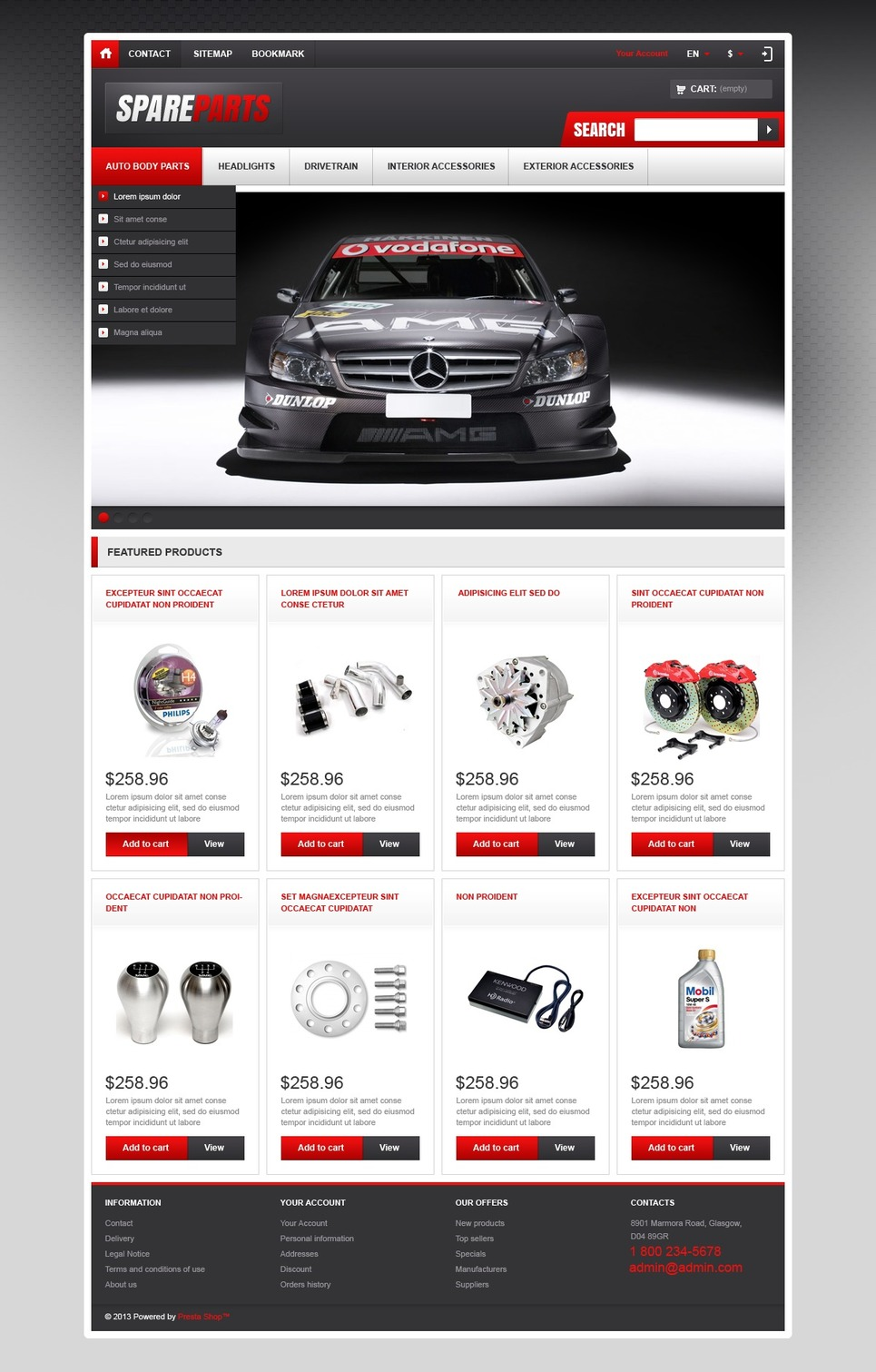 Responsive Spare Parts Store