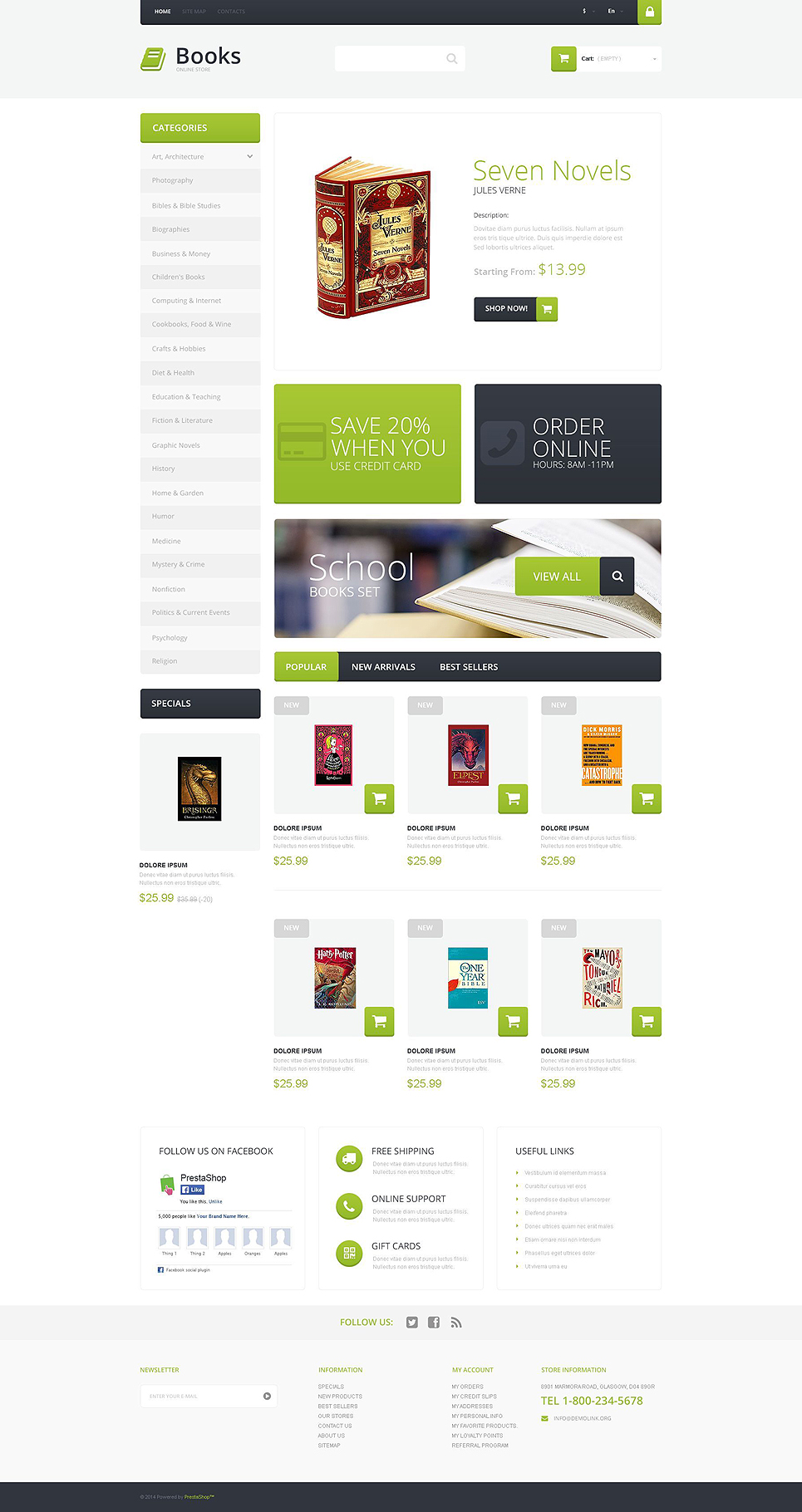 Selling Books (PrestaShop theme) Item Picture
