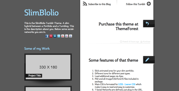 SlimBlolio Tumblr Theme